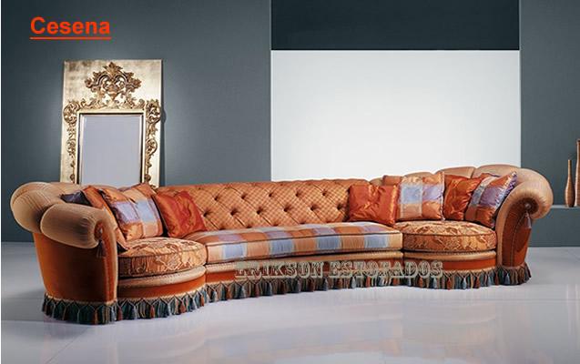 Sof cl ssico lindos e charmosos em estilo retro - Sofas estilo colonial ...