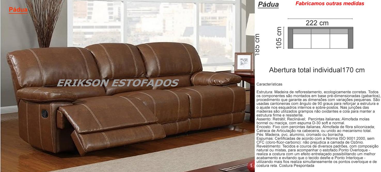 Sof reclin vel veja 40 modelos lindos e confort veis for Sofas articulados modelos