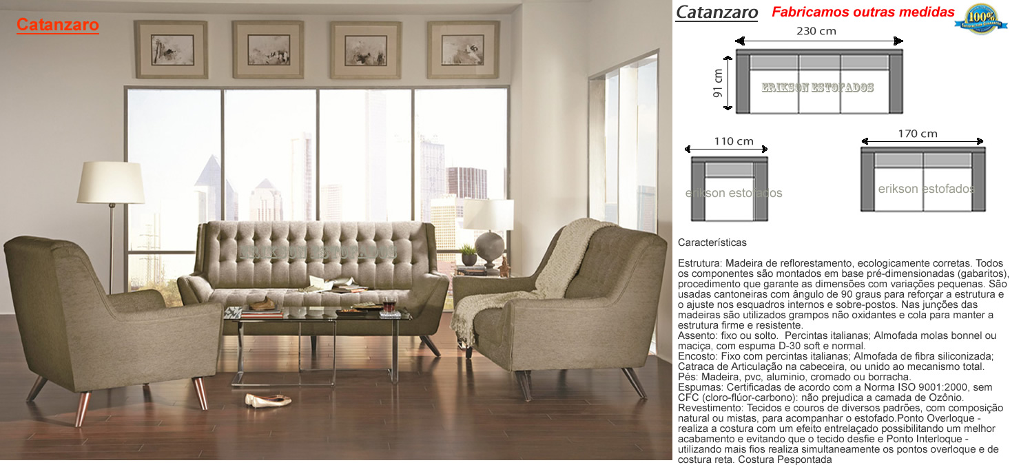 Sof antigo estofados colonial for Medidas de sofas modernos