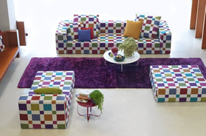 sofa estampado